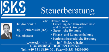 Ihre internationale Steuerberatung - SKS Steuerberatung Dresden-Kiew
