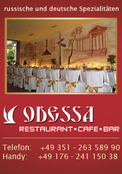 Restaurant Cafe Bar bei Zwinger - Restaurant Odessa in Dresden. Restaurant Cafe Bar  in Dresden. Ukrainische-Russische und Deutsche Spezielit&auml;ten. Restaurant Odessa, Restaurant Dresden, Ukrainische K&uuml;che, Russische K&uuml;che, zwinger, dresden, Dresden Zwiner